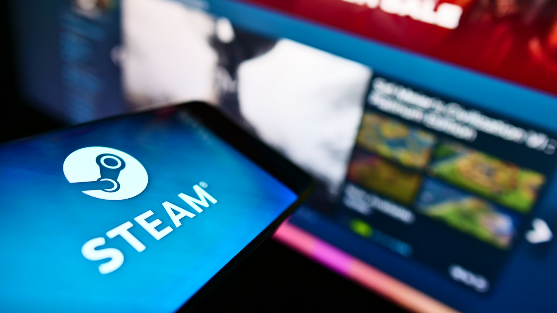 Steam logo and library