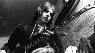 Greg Lake, backstage with King Crimson in 1969.