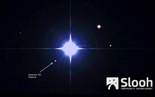 The huge asteroid 163 Erigone passed in front of Regulus, blotting out the bright star for a few seconds for viewers in North America. Image uploaded March 20, 2014.