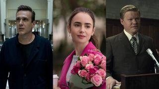 Jason Segel, Lily Collins, and Jesse Plemons