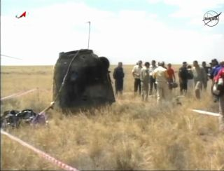 Soyuz TMA-03M space capsule that returned to Earth on July 1, 2012.
