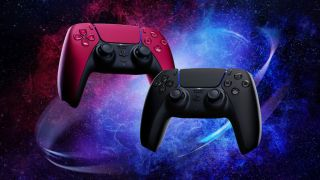 Ps5 DualSense Midnight Black and Cosmic Red