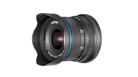 A black Laowa 9mm f/2.8 Zero-D lens