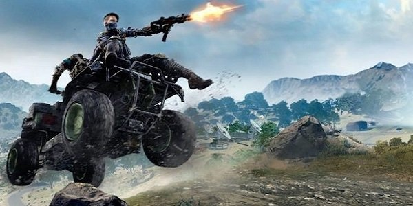 Call of Duty Black Ops 4 character firing from an ATV