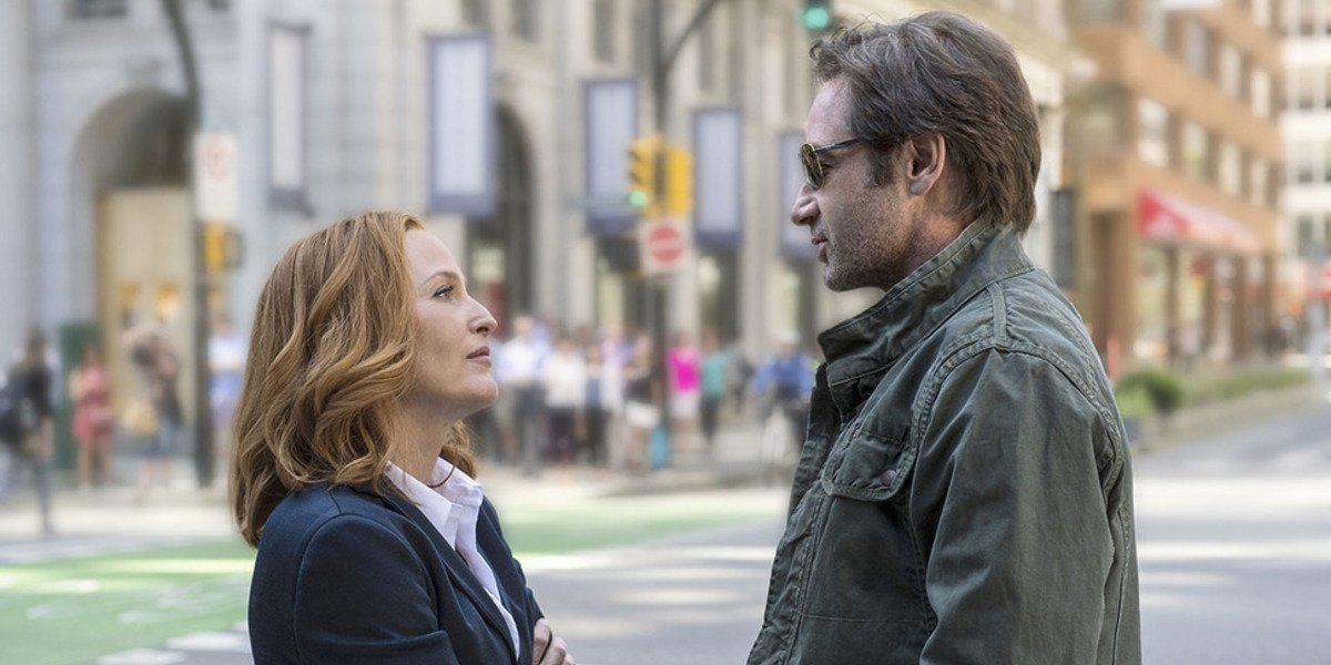 the x files season 10 scully mulder standing reunited fox