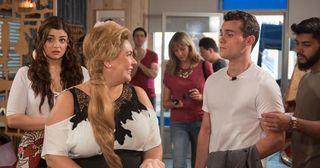 Nicole Barber Lane plays Myra McQueen in Hollyoaks