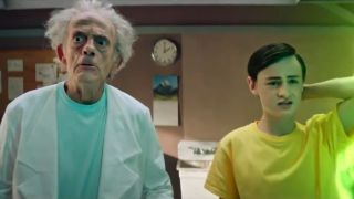 Christopher Lloyd in live action Rick and Morty