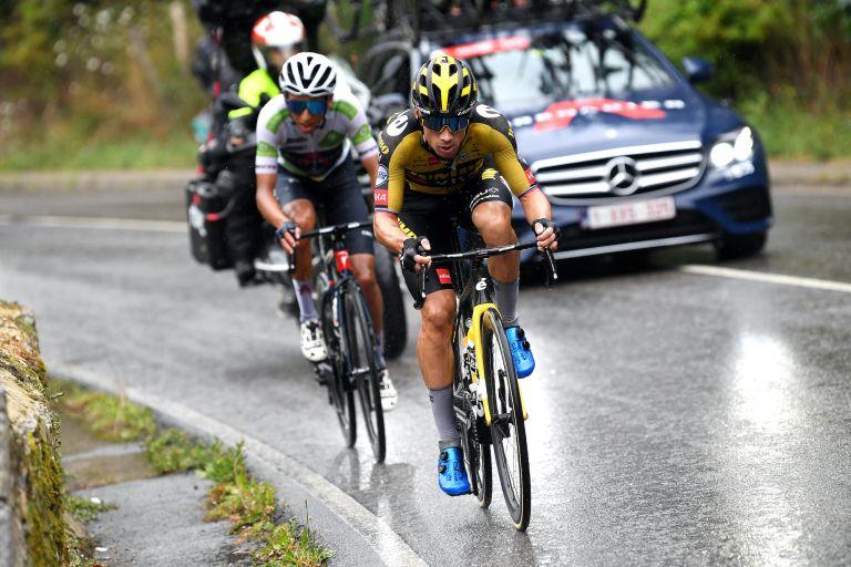 Primoz Roglic on stage 17 of the Vuelta a España