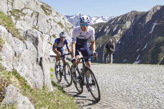 Tour de Suisse 2021 - 85th Edition - 8th stage Andermatt - Andermatt 159,5 km - 13/06/2021 - Passo del Gottardo - Michael Woods (NZL - Israel Start-Up Nation) - Mattia Cattaneo (ITA - Deceuninck - Quick-Step) - photo Annegret Turk/BettiniPhoto©2021