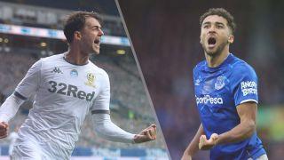 Leeds United vs Everton live stream Premier League — Patrick Bamford of Leeds United and Dominic Calvert-Lewin of Everton