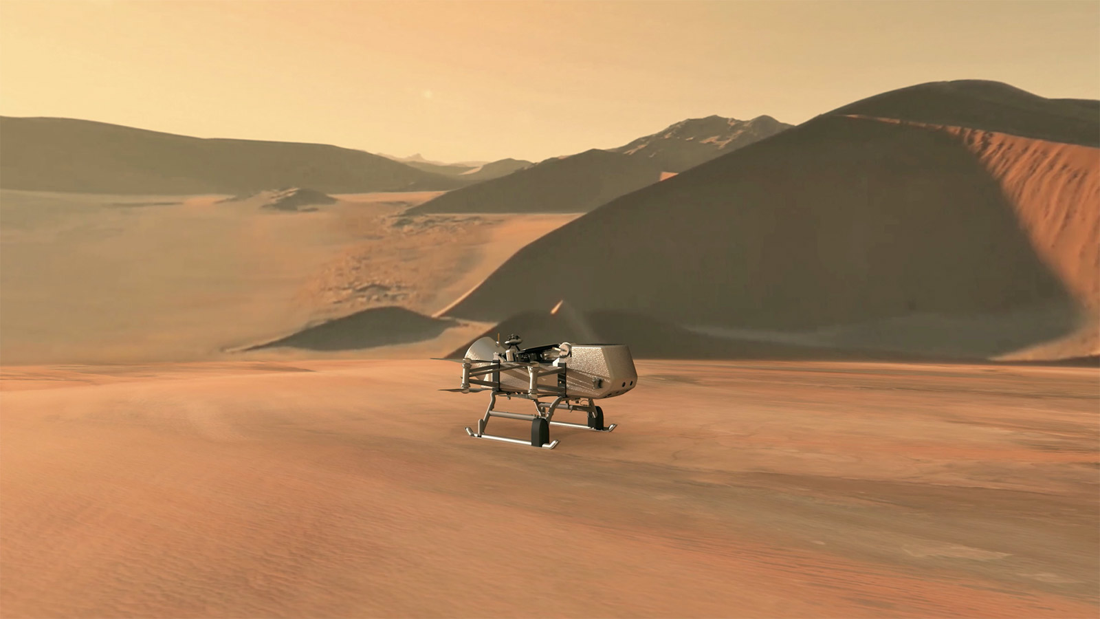 A NASA Dragonfly Drone Flying On TItan In The 2030s