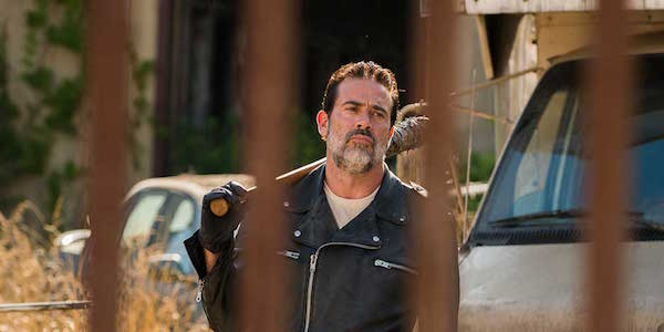 Negan outside of Alexandria