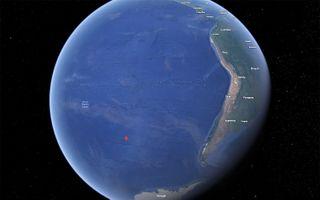 point nemo tiangong-1 map