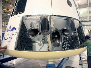 Dragon spacecraft will carry as many as 18 Draco thrusters based on mission parameters.