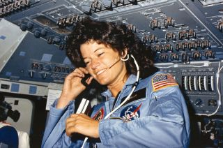 Sally Ride Aboard Space Shuttle Challenger