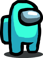 An image of Cyan in Among Us.