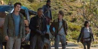 The Maze Runner: The Death Cure Dylan O'Brien Giancarlo Esposito Thomas Sangster-Brody plotting in t