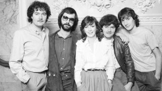 Padraig Duggan, second right, with Clannad in 1982