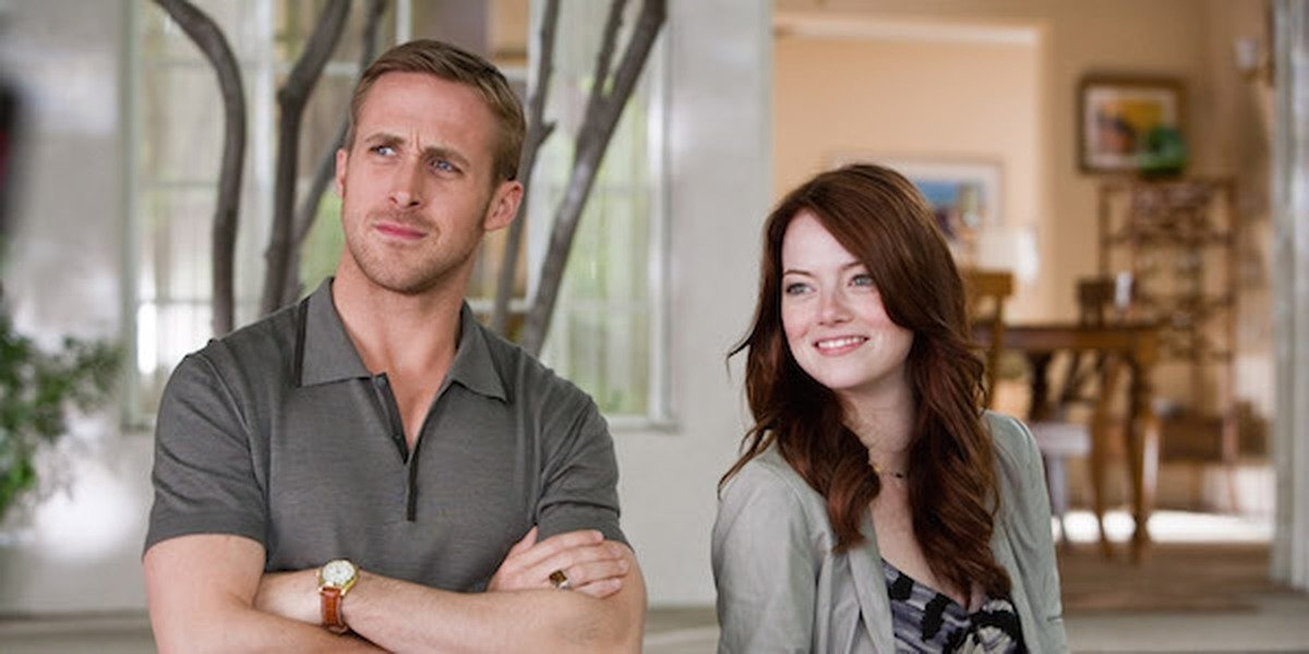 Emma Stone and Ryan Gosling in Crazy, Stupid Love