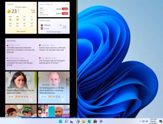 Windows 11 interface widgets