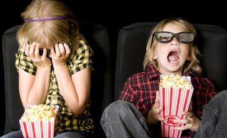 kids watching 3-d movie