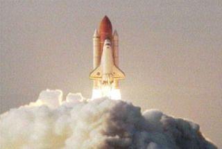 Space Shuttle Endeavour Rockets Into Orbit