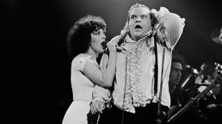 Meat Loaf on stage during Bat Out Of Hell