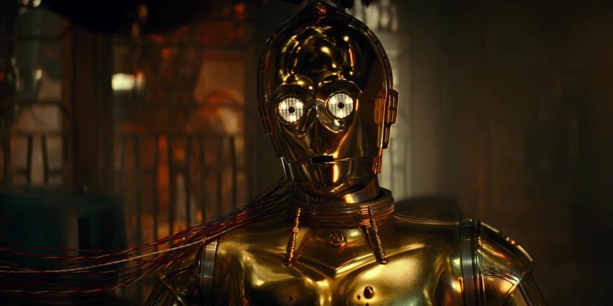 C-3PO in the trailer