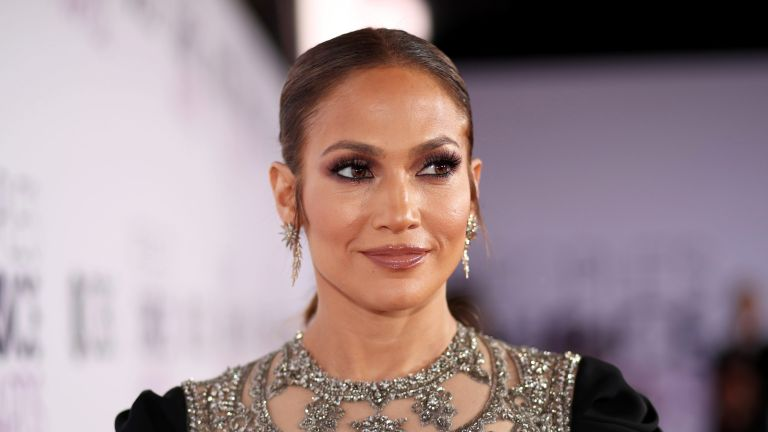 Jennifer Lopez in evening attire at an event