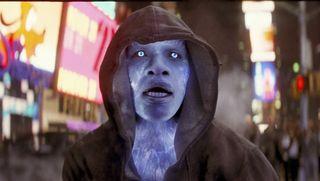 Jamie Foxx as Electro in Spider-Man.