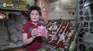 European Astronaut Samantha Cristoforetti Shows off Space Snacks