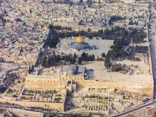 Jerusalem Aerial View of the Temple Mount