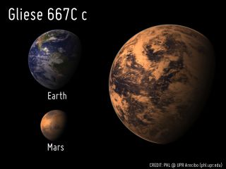 Gleise 667 and Earth