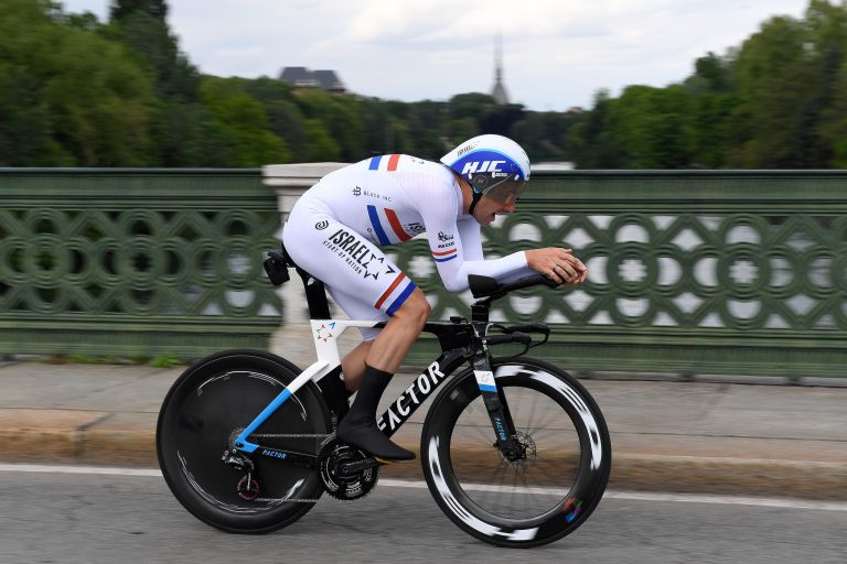 Alex Dowsett riding stage one of the Giro d'Italia 2021