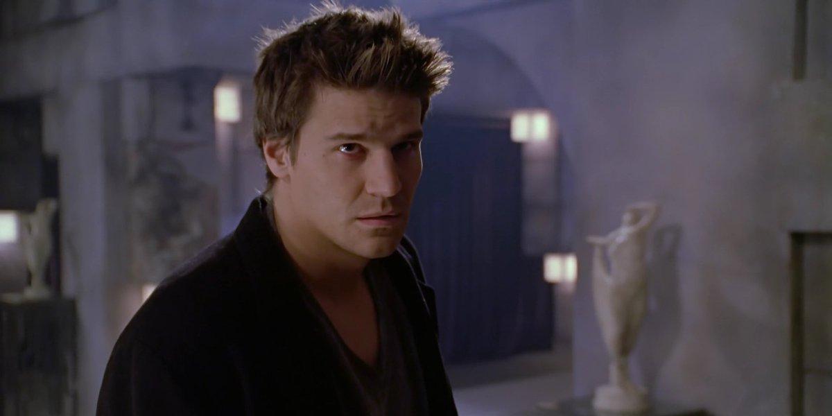David Boreanaz as Angel on Buffy the Vampire Slayer