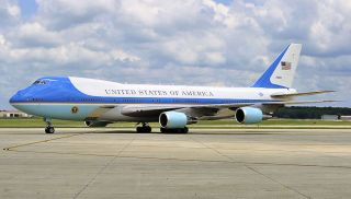 Air Force One at Andrews Air Force Base in Maryland on May 22, 2010.