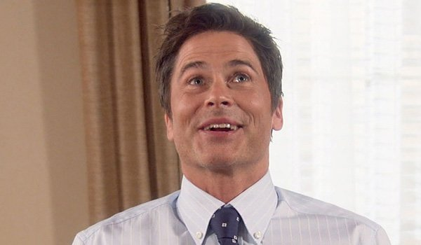 Rob Lowe as the healthiest man alive, Chris Traeger on Parks And Recreation