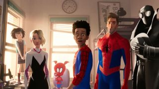 Each of the characters briefly glimpsed in the Spider-Man: Into the Spider-Verse post-credits scene