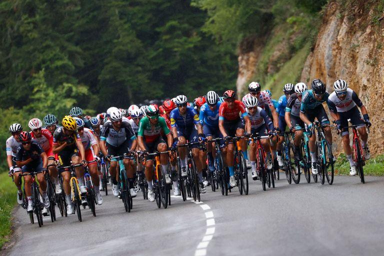 The Tour de France peloton