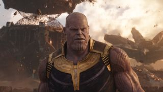 Thanos as pictured in Avengers: Infinity War