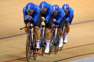 The Italian men's team pursuit squad