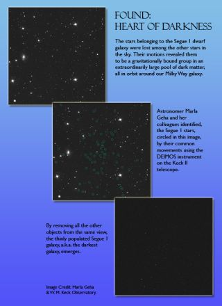Dark matter galaxy segue 1