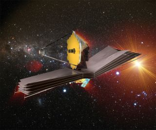 The selected design for the James Webb Space Telescope.