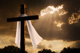 Good Friday, cross for Jesus crucifixion,