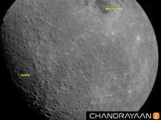 India's Chandrayaan-2 mission captured this photograph of the moon on Aug. 21, 2019.