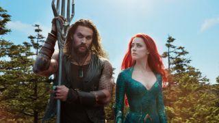 Aquaman (Jason Mamoa) and Mera (Amber Heard).