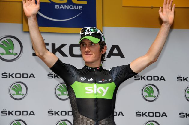 Geraint Thomas, Tour de France 2011, stage three
