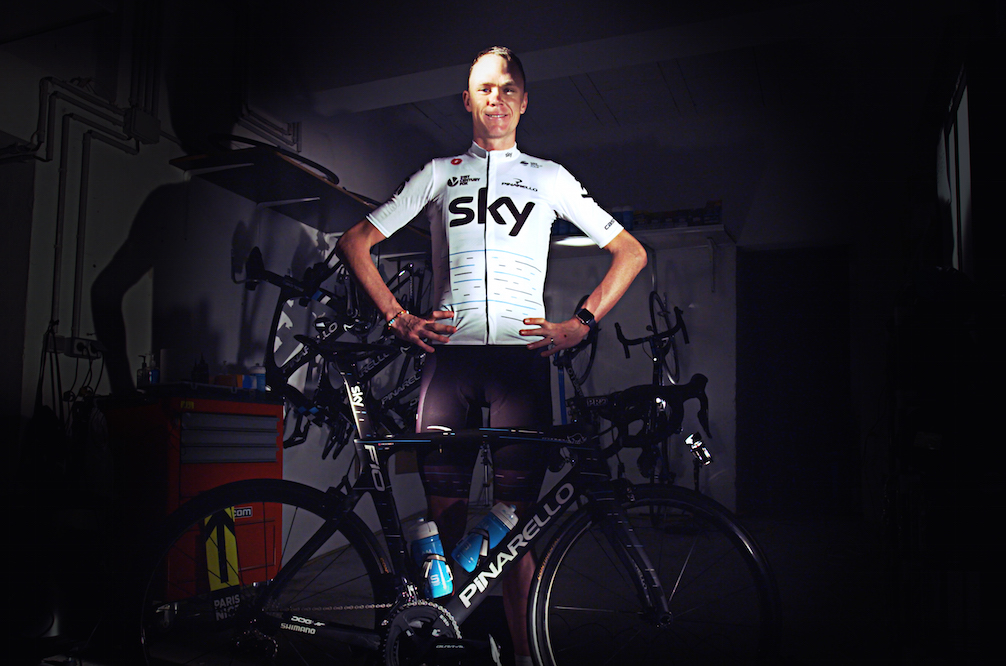 Chris Froome in 2017 Team Sky Tour de France Special Edition kit