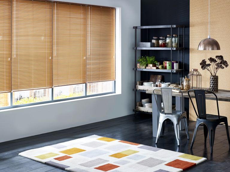 Blinds in dining area by Blinds2Go