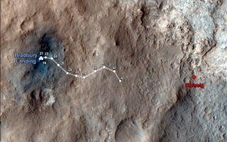 Curiosity Traverse Map Through Sol 43